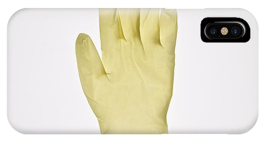 Glove IPhone X / XS Case featuring the photograph Surgical Gloves by Kevin Curtis