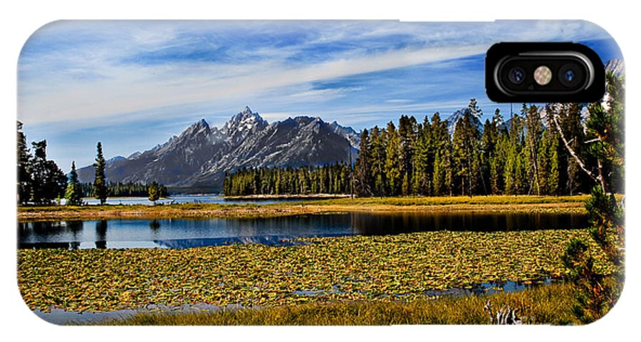 Grand Tetons IPhone X / XS Case featuring the photograph Swan Lake by Robert Bales