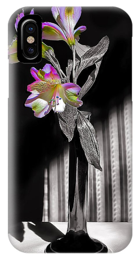 Flower IPhone X Case featuring the photograph Sweet Light by Penny Pesaturo