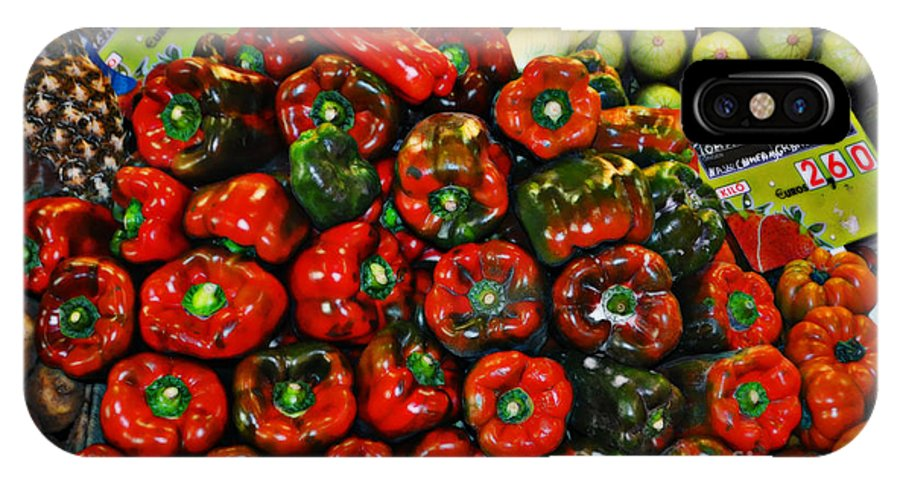Sweet Red Peppers IPhone X Case featuring the photograph Sweet Red Peppers by Mary Machare