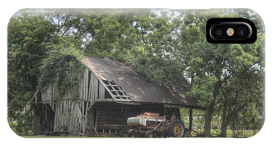 Barn IPhone X Case featuring the photograph T Barn 2 by Douglas Barnett