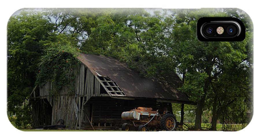 Barn IPhone X Case featuring the photograph T Barn 3 by Douglas Barnett