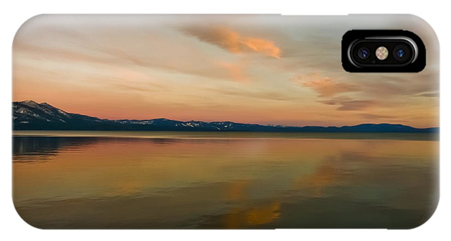 Lake Tahoe IPhone X Case featuring the photograph Tahoe Glass by Mitch Shindelbower