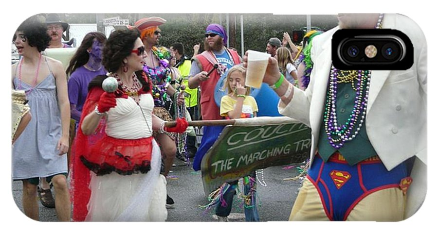 Louisiana IPhone X Case featuring the photograph Take Me To The Mardi Gras by Rdr Creative