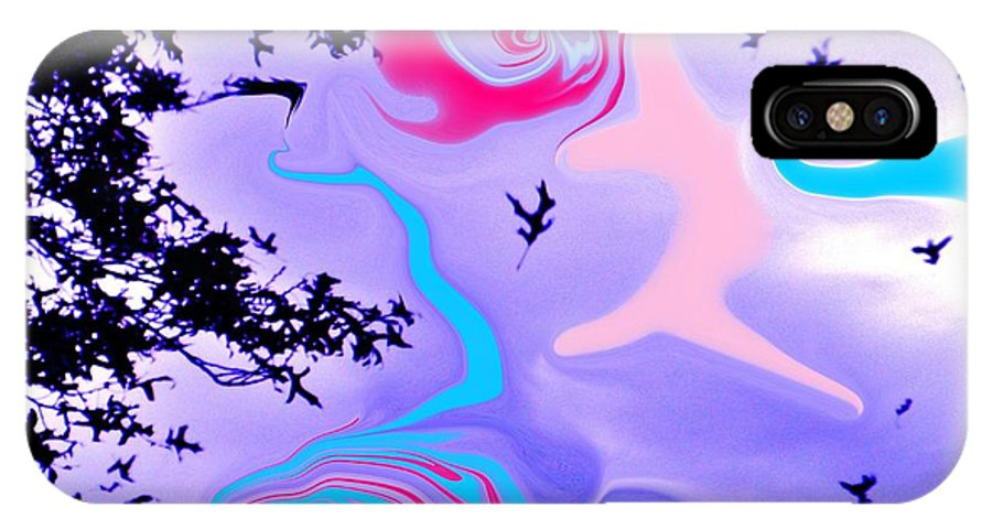 Leaves IPhone X Case featuring the photograph Taking The Plunge by Susan Carella