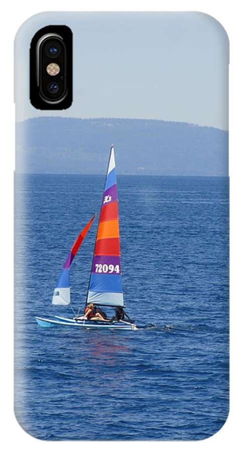 Sail IPhone X Case featuring the photograph Tall Sail by Shannon Grissom