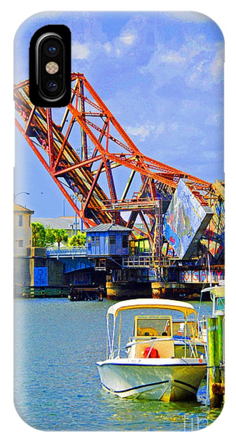 Tampa IPhone X Case featuring the photograph Tampa Drawbridge by Jost Houk