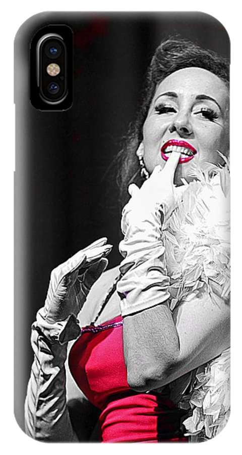 Woman IPhone X Case featuring the photograph Tantalize by Elizabeth Hart