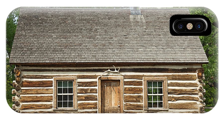 Past IPhone X Case featuring the photograph Teddy Roosevelt's Maltese Cross Log Cabin by John Stephens