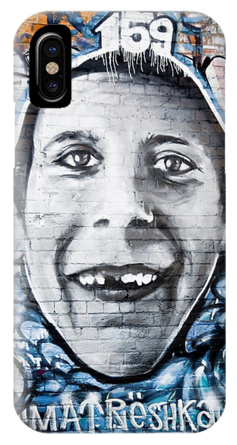 Graffiti IPhone X Case featuring the painting Teethless Graffiti Smile by Yurix Sardinelly