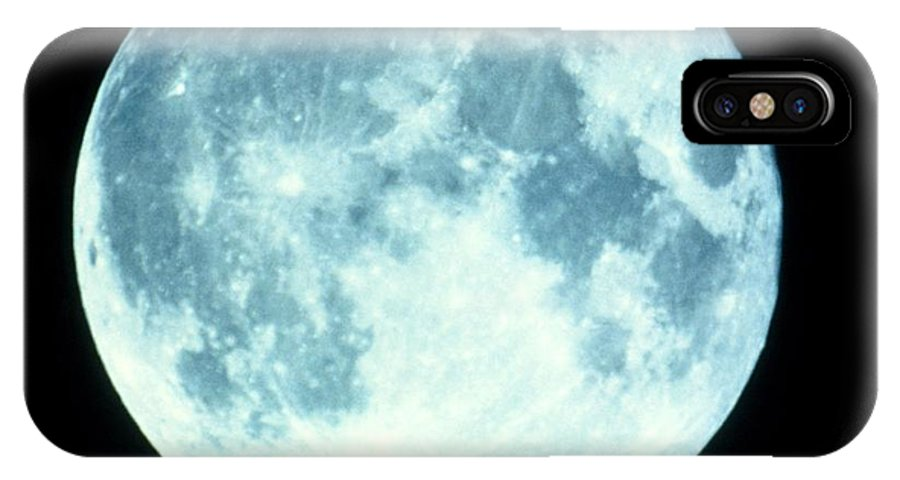 Crater Tycho IPhone X / XS Case featuring the photograph Telescope Photo Of Full Moon From Earth by Dr Fred Espenak