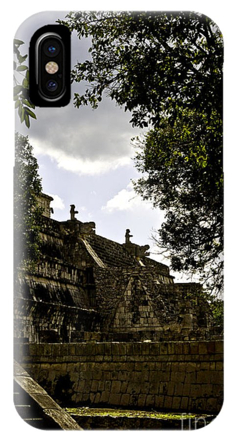 Chichen Itza IPhone X Case featuring the photograph Temple Of The Warriors Two by Ken Frischkorn