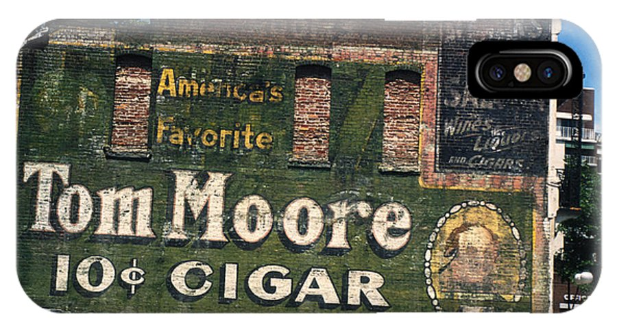 Cigar IPhone X Case featuring the photograph Ten Cent Cigar by Carl Purcell