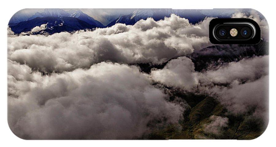 Denali National Park IPhone X Case featuring the photograph Ten Thousand Feet Over Denali by Rick Berk