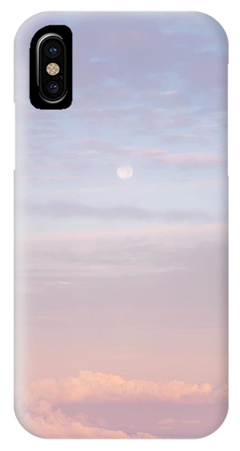 Sky IPhone X Case featuring the photograph Tender Welcoming Sky Over Spain. Full Moon by Jenny Rainbow