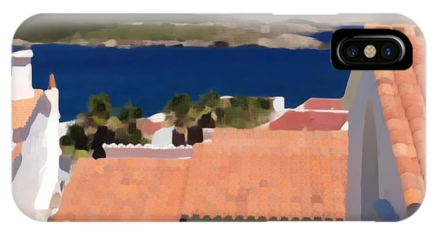 Photographs IPhone X Case featuring the photograph Terracotta Roof Views by John Colley