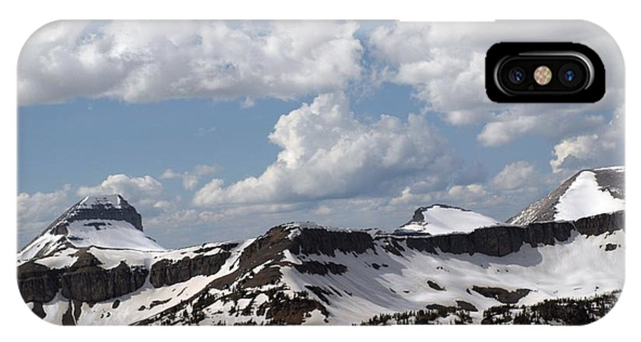 Rendezvous Mountain IPhone X Case featuring the photograph Teton Range by Living Color Photography Lorraine Lynch