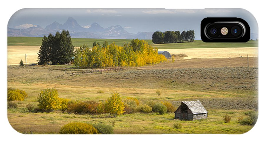 Farm IPhone X Case featuring the photograph Teton Valley by Idaho Scenic Images Linda Lantzy