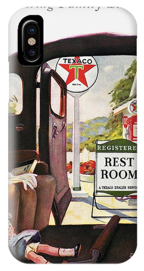 1938 IPhone X Case featuring the photograph Texaco Advertisement, 1938 by Granger