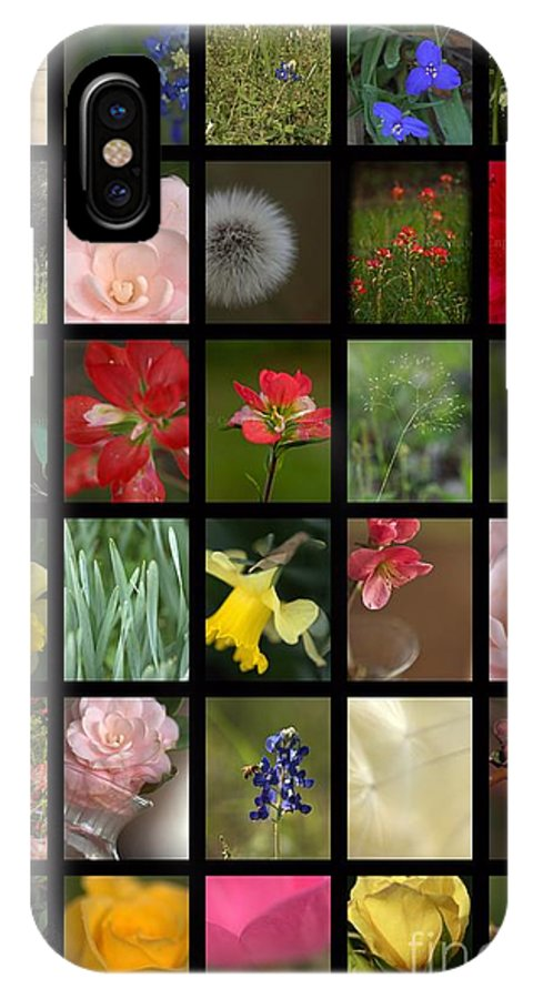 Spring Flowers IPhone X Case featuring the mixed media Texas Beauties by Kim Henderson