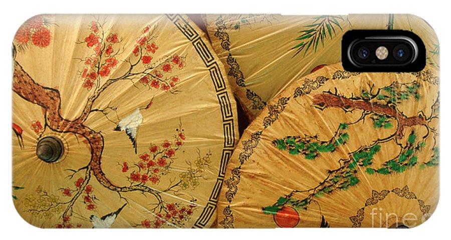 Umbrella IPhone X Case featuring the photograph Thai Umbrellas 2 by Bob Christopher