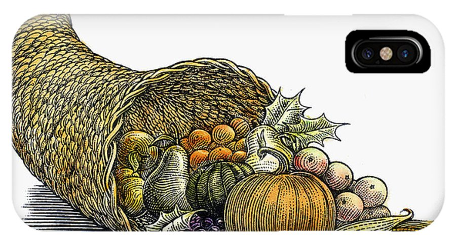 19th Century IPhone X / XS Case featuring the photograph Thanksgiving: Cornucopia by Granger