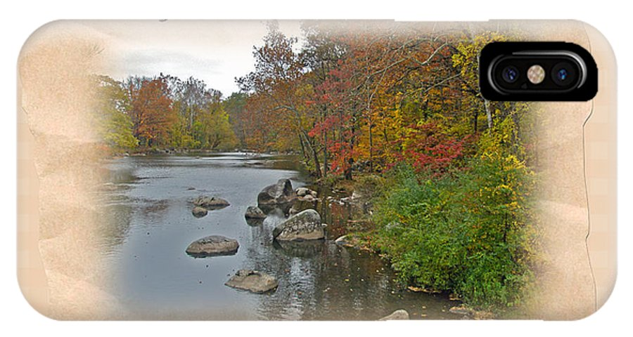 Thanksgiving IPhone X Case featuring the photograph Thanksgiving Greeting Card - Autumn Creek by Mother Nature