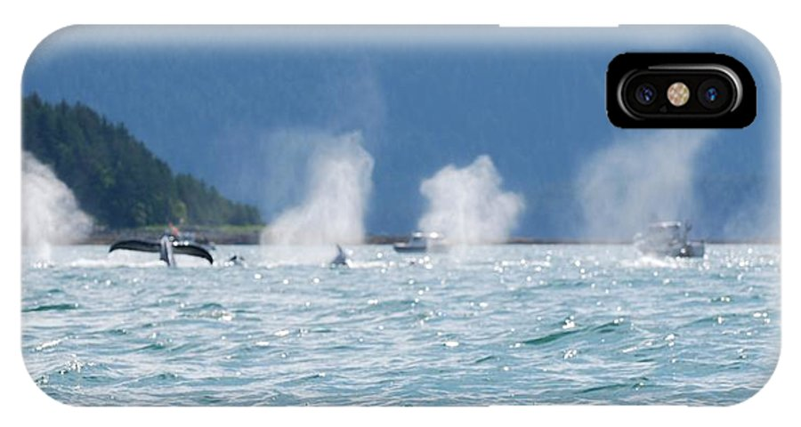 Whale Watching IPhone X Case featuring the photograph Thar They Blow by Eric Tressler
