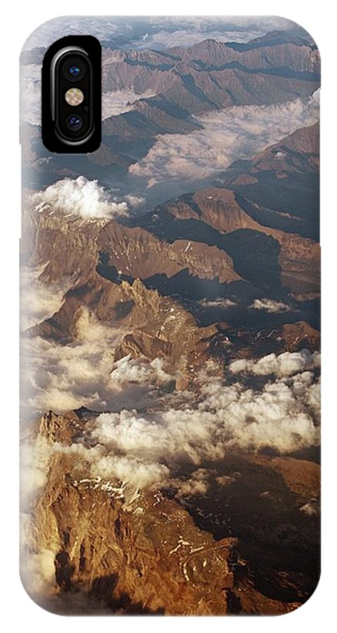 Alps IPhone X Case featuring the photograph The Alps, Aerial Photograph by Carlos Dominguez