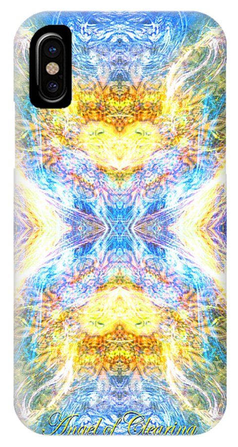 Angel IPhone X Case featuring the digital art The Angel Of Clearing by Diana Haronis