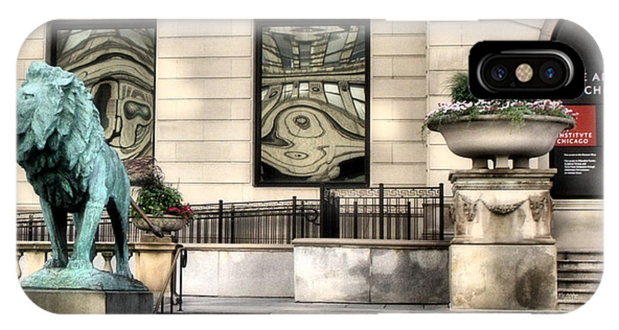 The Art Institute Of Chicago IPhone X Case featuring the photograph The Art Institute Of Chicago - 1 by Ely Arsha