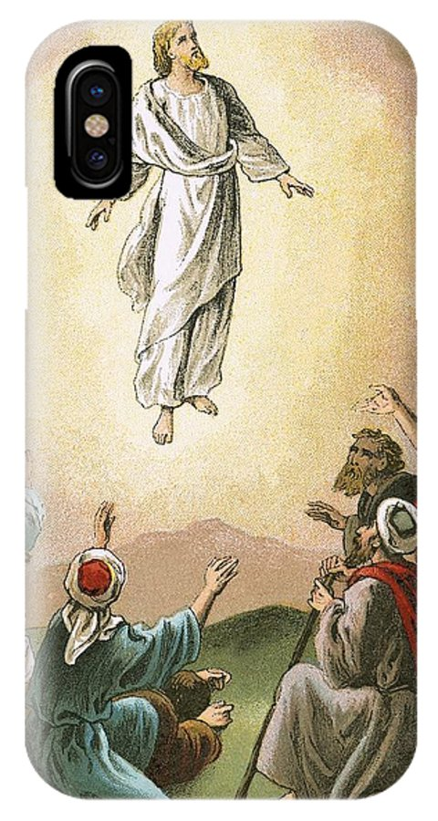 Bible; Ascension; Jesus; Christ; Heaven IPhone X Case featuring the painting The Ascension by English School