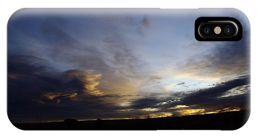 Autumn IPhone X Case featuring the photograph The Autumn Sky by Jeff Swan