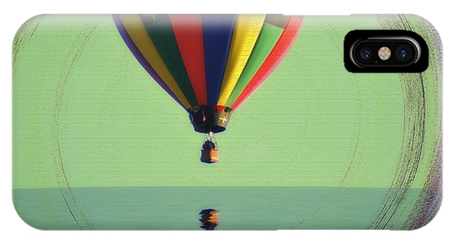 Balloon IPhone X Case featuring the photograph The Balloon And The Sea by Bill Cannon