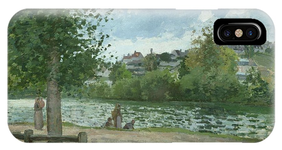 The IPhone X Case featuring the painting The Banks Of The Oise At Pontoise by Camille Pissarro