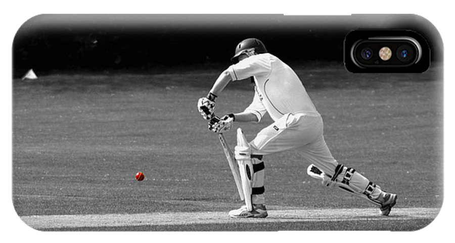 Cricket IPhone X Case featuring the photograph The Batsman by Chris Day