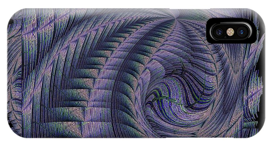 Abstract IPhone X Case featuring the digital art The Blue Highway by Tim Allen