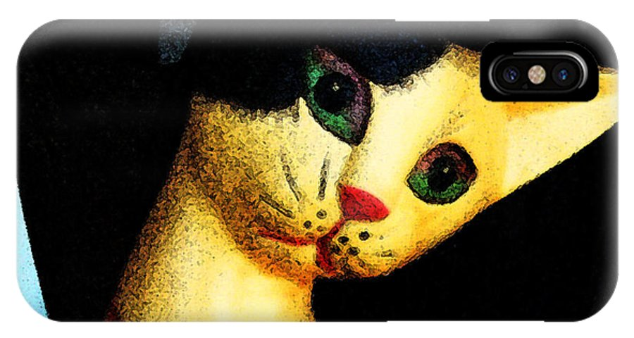 Cat IPhone X Case featuring the photograph The Cat In Daedalus' Workshop by Louis Nugent