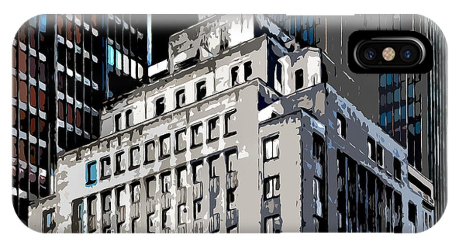 Heart Of The City IPhone X / XS Case featuring the photograph The Center by Burney Lieberman