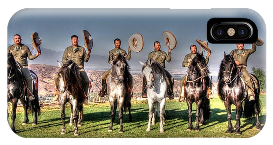 Mexico IPhone X Case featuring the photograph The Charros by Tommy Anderson