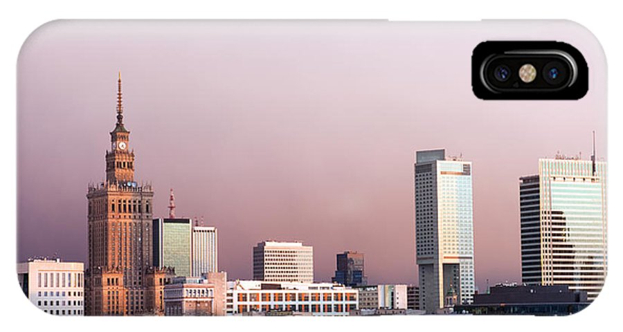 Warsaw IPhone X Case featuring the photograph The City Of Warsaw by Artur Bogacki