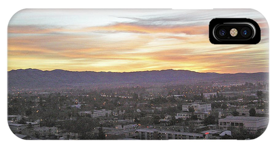 San Jose IPhone X Case featuring the photograph The Colors Of The Sky Over San Jose At Sunset by Ashish Agarwal