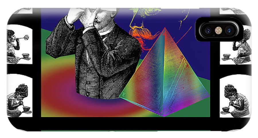Digital Collage IPhone X / XS Case featuring the digital art The Confession by Eric Edelman