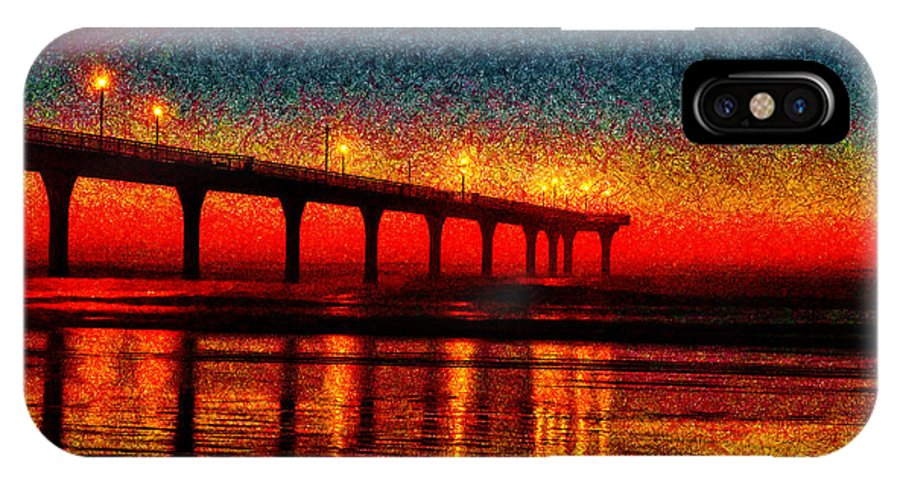 Christchurch IPhone X Case featuring the photograph The Crisp Dawn by Steve Taylor
