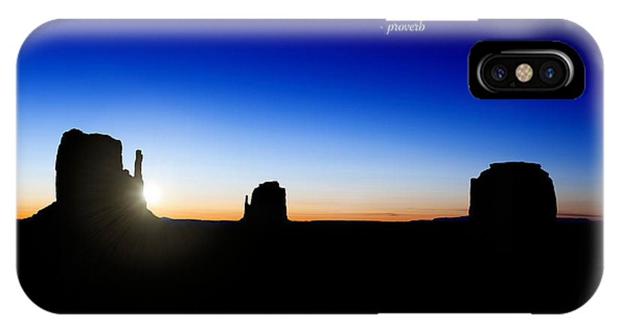 America IPhone X Case featuring the photograph The Darkest Hour..... by Jane Rix