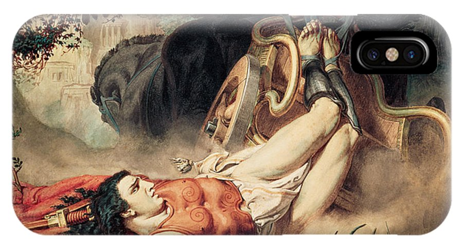 The IPhone X Case featuring the painting The Death Of Hippolyte by Sir Lawrence Alma-Tadema