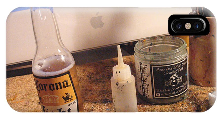 Beer IPhone X Case featuring the photograph The Desk Of An Artist by Hiroko Sakai