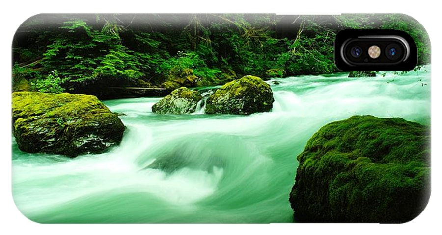 Rivers IPhone X Case featuring the photograph The Dosewallups River by Jeff Swan