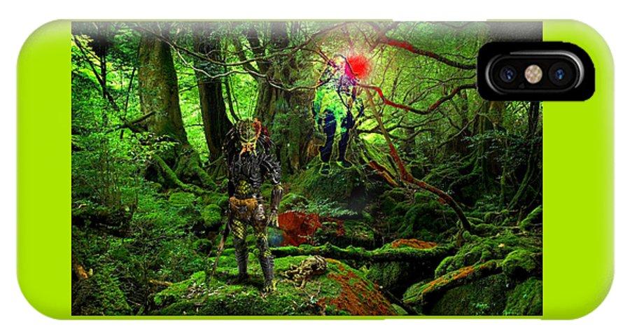 Alien Species IPhone X / XS Case featuring the digital art The Elders by Casey P
