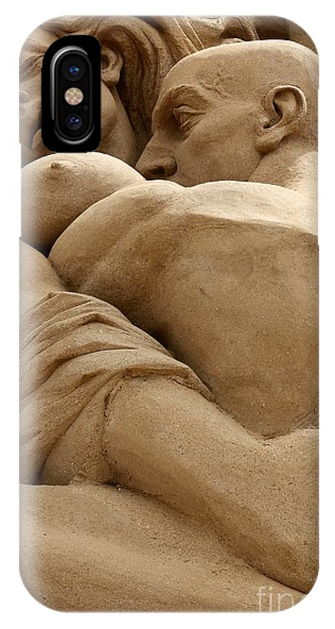 Sand IPhone X Case featuring the photograph The Embrace by Sophie Vigneault